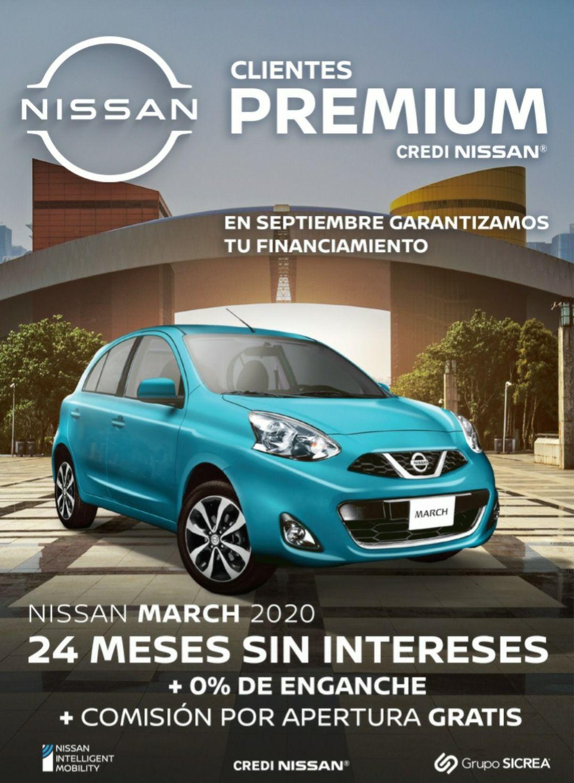 Nissan: 24 MSI + 0% enganche + 0% comisión por apertura para Clientes Premium Credinissan
