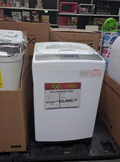 Bodega Aurrerá: Lavadora Automática Daewoo 10Kg a $2,990