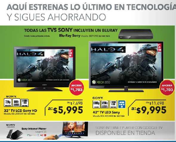 Best Buy: blu-ray gratis comprando TV Sony, disco duro comprando cámara Panasonic y +
