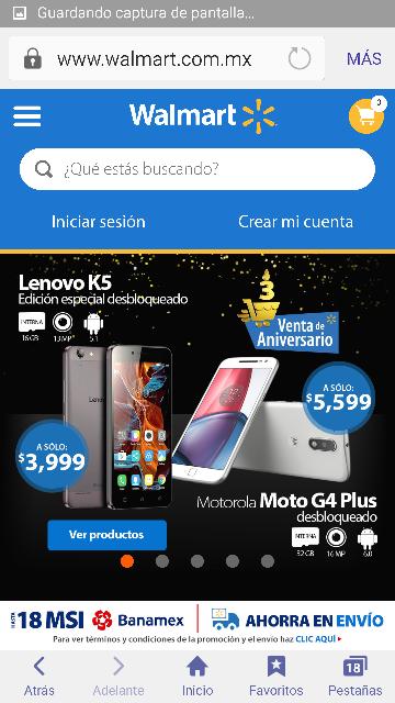 Walmart en línea: Venta de Aniversario 18 MSI en celulares, audio y electrónica con precios especiales !!!