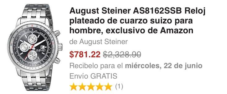 Amazon: Reloj August Steiner (Envío Gratis y sin Gastos de importación)
