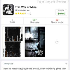 App Store: This war of mine iOS a $49