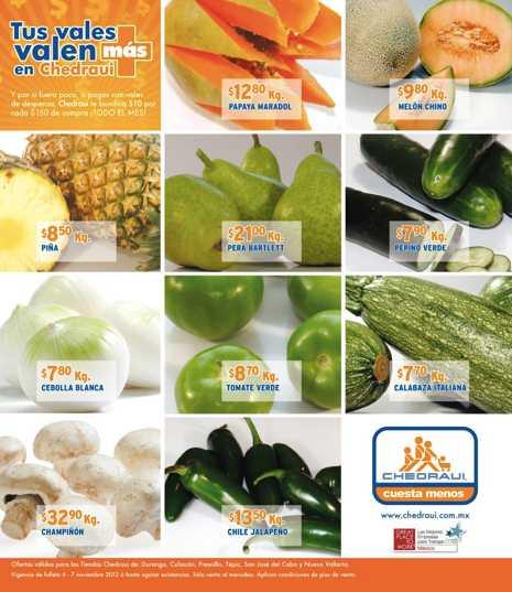 Miércoles de frutas y verduras en Chedraui noviembre 7: chayote $3.90, ciruela $27.90 y más