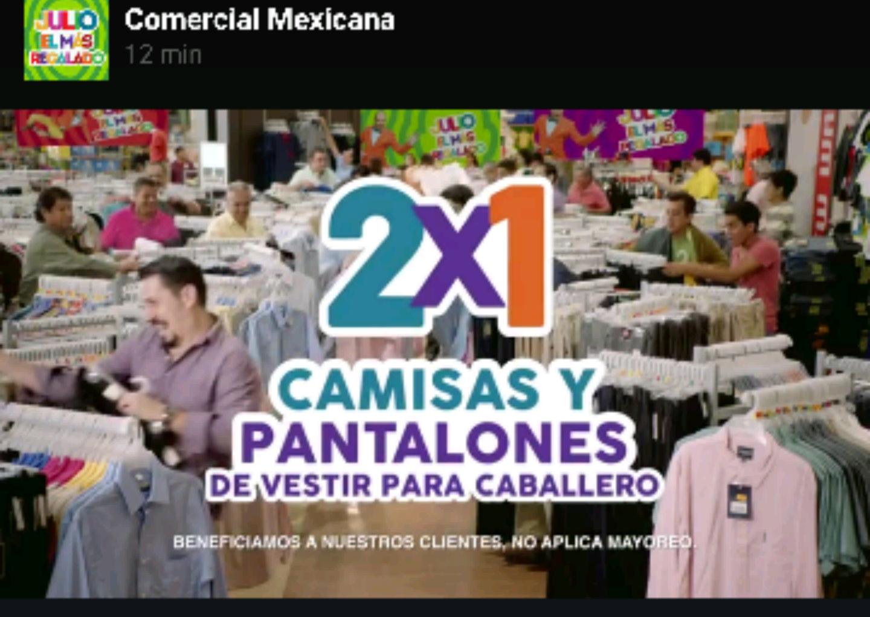 Promoción de Julio Regalado en Soriana y Comercial Mexicana: 2x1 en camisas y pantalones para caballero