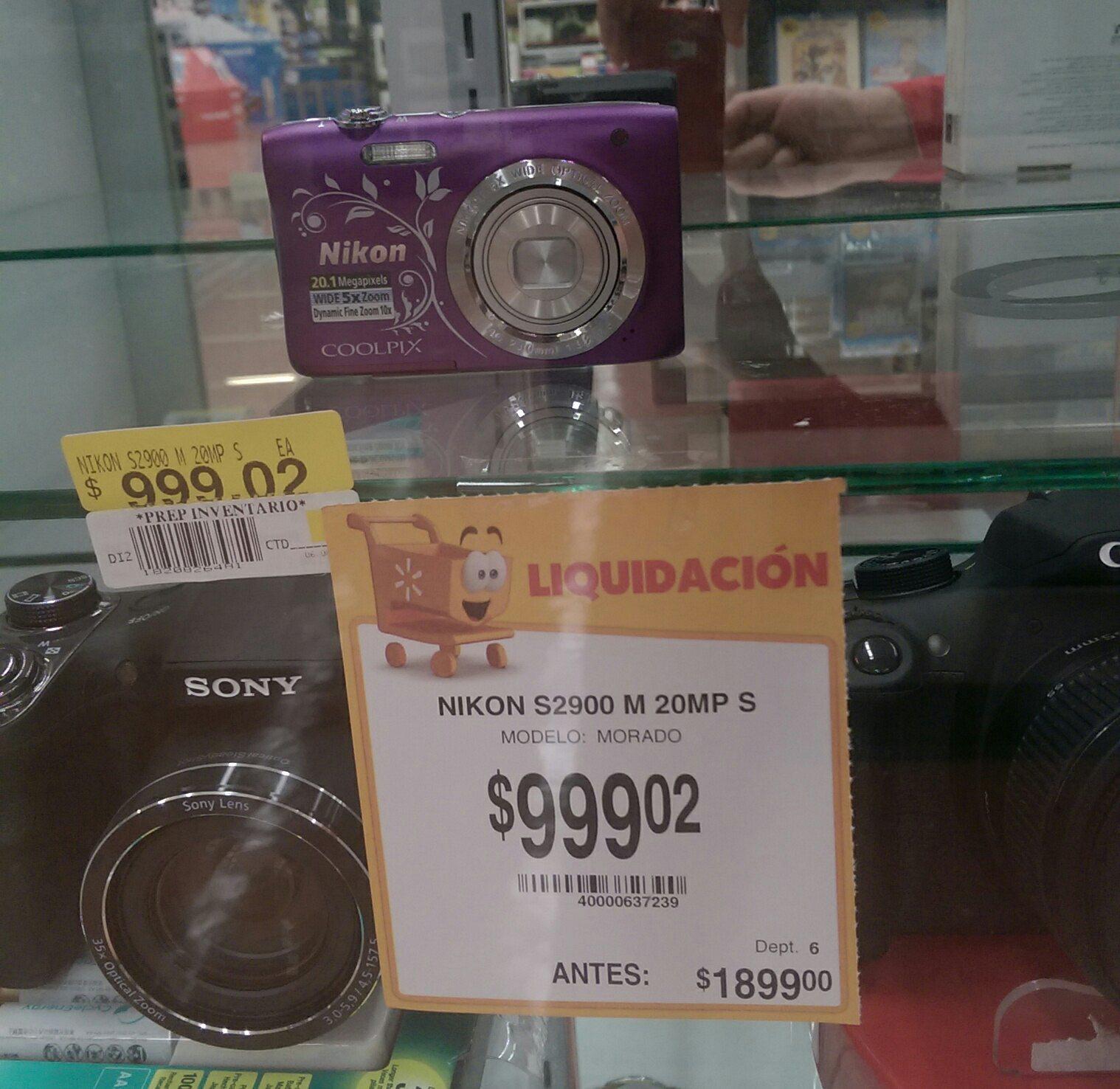 Walmart: Camara Nikon Coolpix en liquidacion
