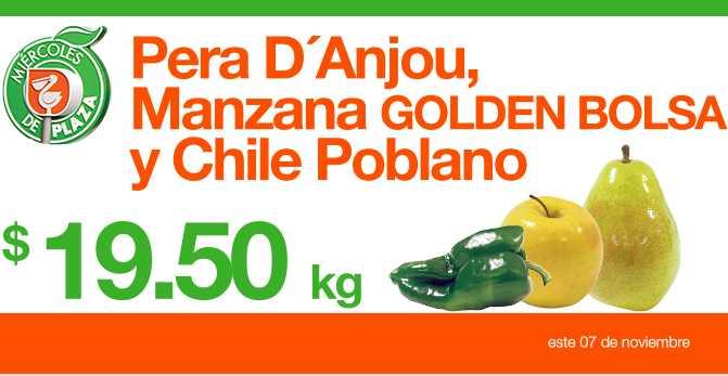 Miércoles de Plaza en La Comer noviembre 7: pera Anjou $19.50, toronja $2.50 y más