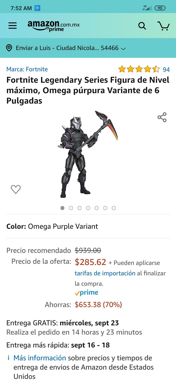 Amazon Fortnite Legendary Series Figura de Nivel máximo, Omega púrpura Variante de 6 Pulgadas