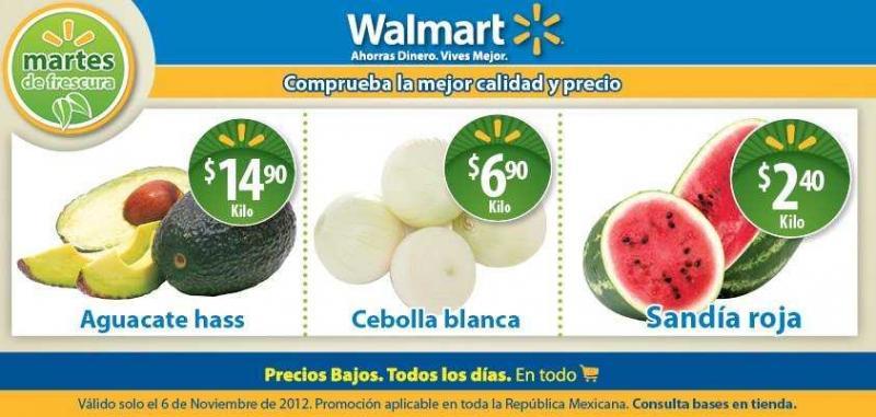 Martes de frescura Walmart noviembre 6: sandía $2.40, cebolla $6.90 y más