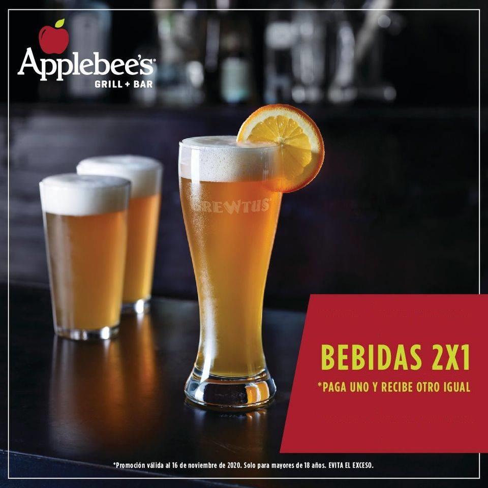 Applebees: 2×1 en Bebidas