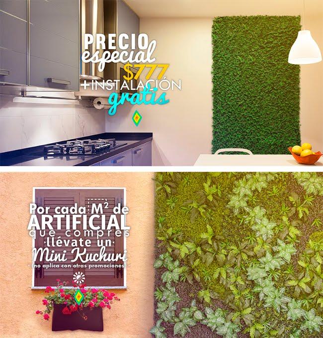 Huichol: Jardines verticales con instalación (solo monterrey)