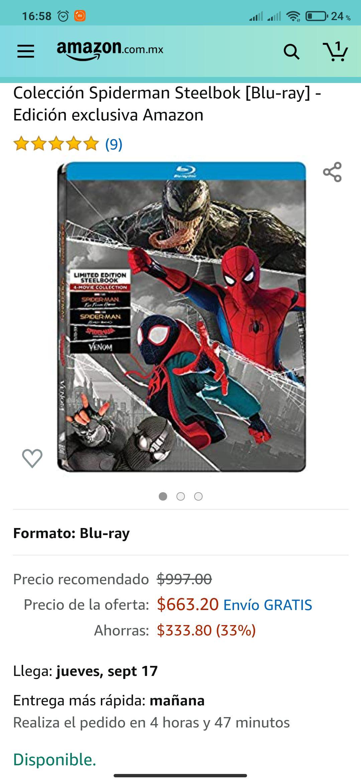 Amazon: Colección Spiderman Steelbok [Blu-ray] - Edición exclusiva Amazon
