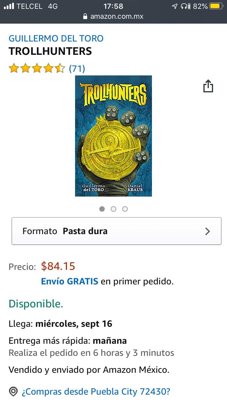 Amazon: Libro Trollhunters pasta dura