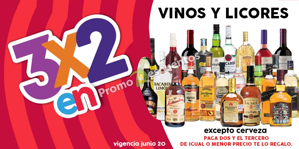 Promoción de Julio Regalado en Soriana y Comercial Mexicana: 3x2 en vinos y licores