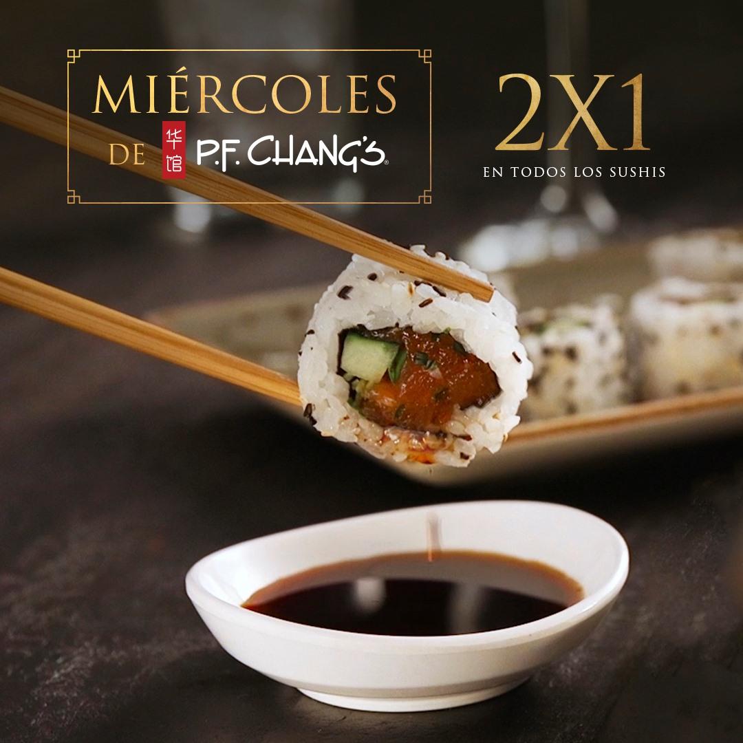 PF Chang's: Todos los Miércoles Sushi al 2x1