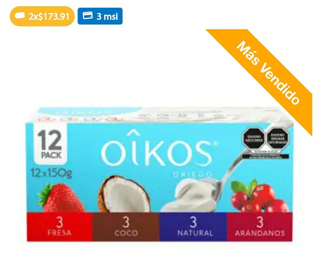 Sam's Club: Yogurt Oikos griegos 24 pzas surtido