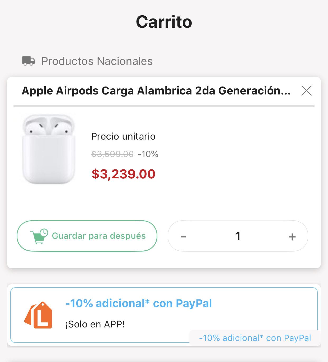 Linio App: Apple Airpods Carga Alambrica 2da Generación