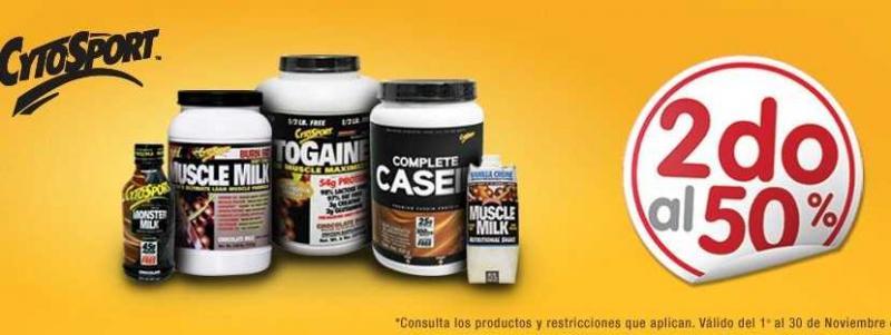 GNC: segundo producto a mitad de precio. Incluye Muscle Milk.