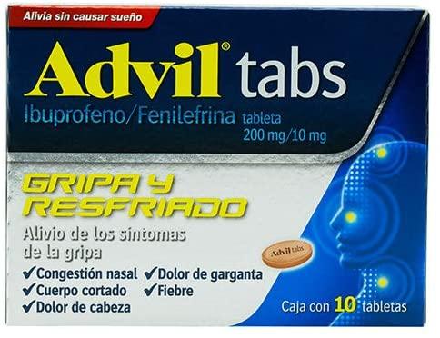 Amazon: Advil Tabs 200 / 10 mg oral 10 tabletas