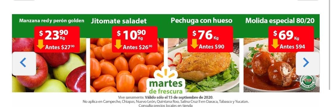 Walmart: Martes de Frescura 15 de septiembre