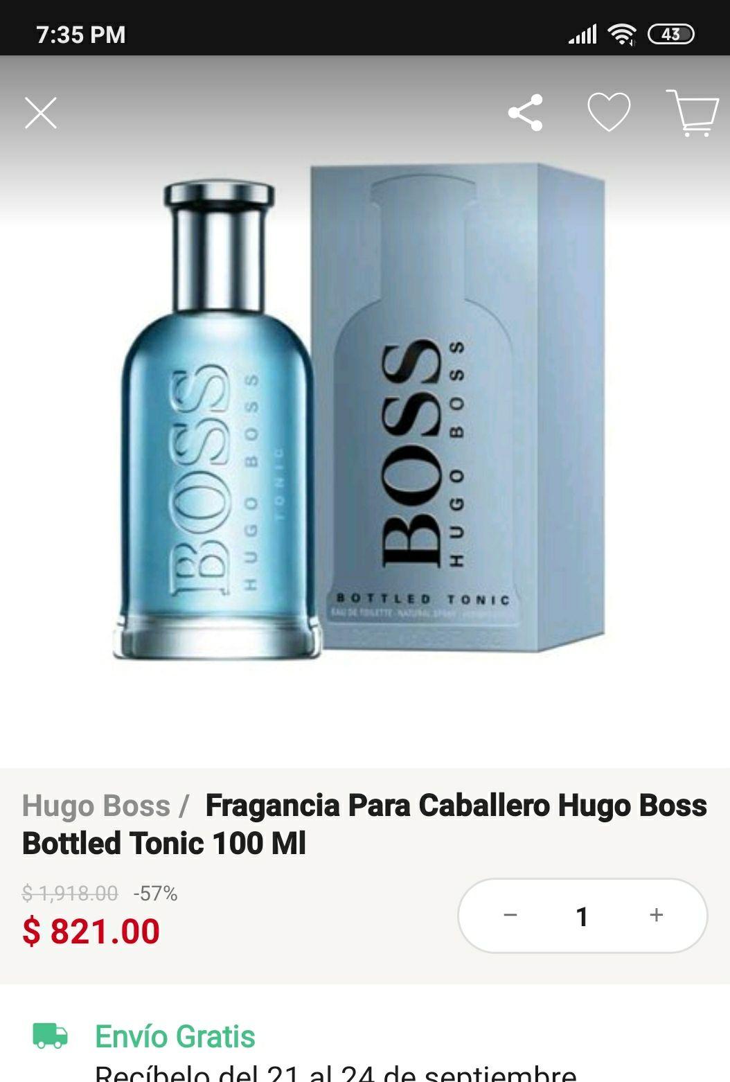 Venta especial en linio: Boss Bottled Tonic 100 Ml Eau De Toilette De Hugo Boss