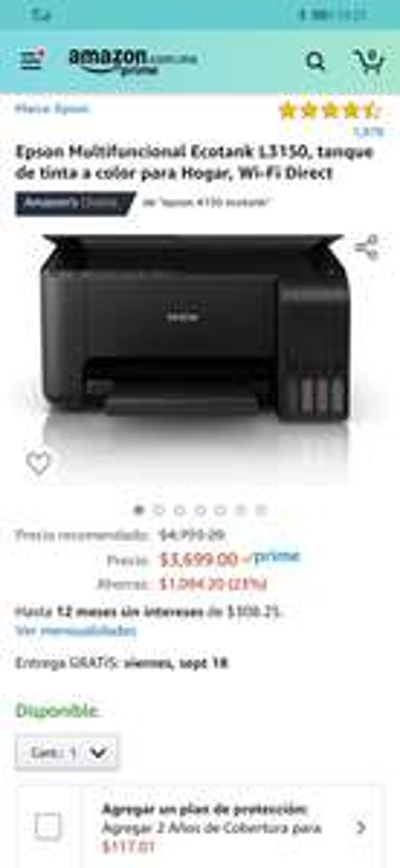 Amazon: Multifuncional Epson l3150