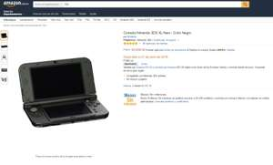 Amazon: Nintendo 3DS XL New - Color Negro $3,899