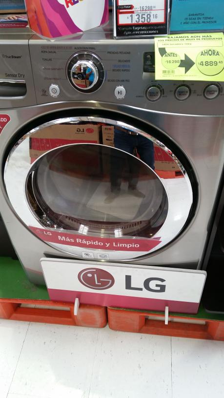 Comercial Mexicana: Secadora LG a un super precio de $16,298 a $4,889