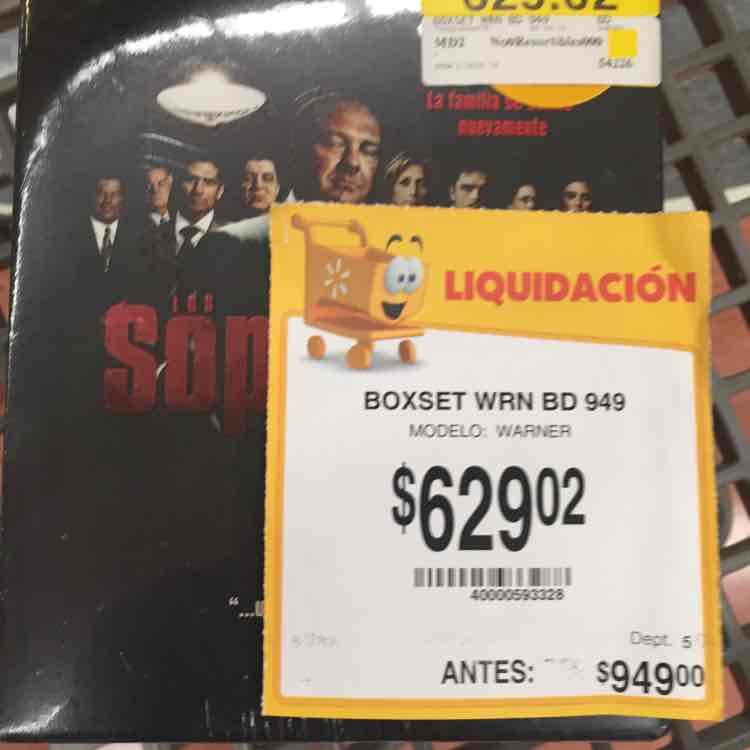 Walmart: boxset de Los Soprano en Blu-Ray a $629.02