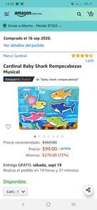 Amazon Baby Shark rompecabezas MUSICAL!