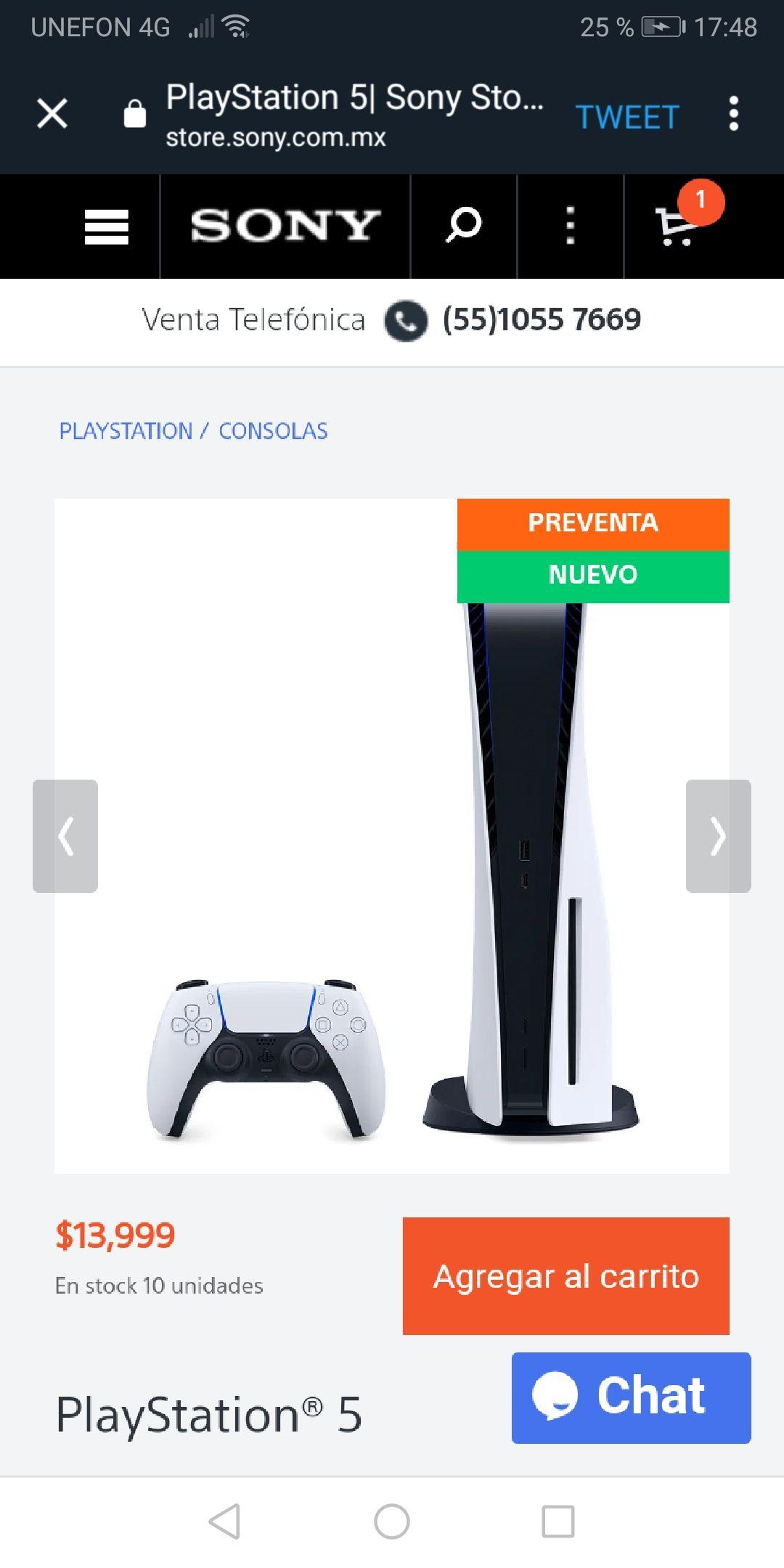 Sony Store: Preventa consola PS5