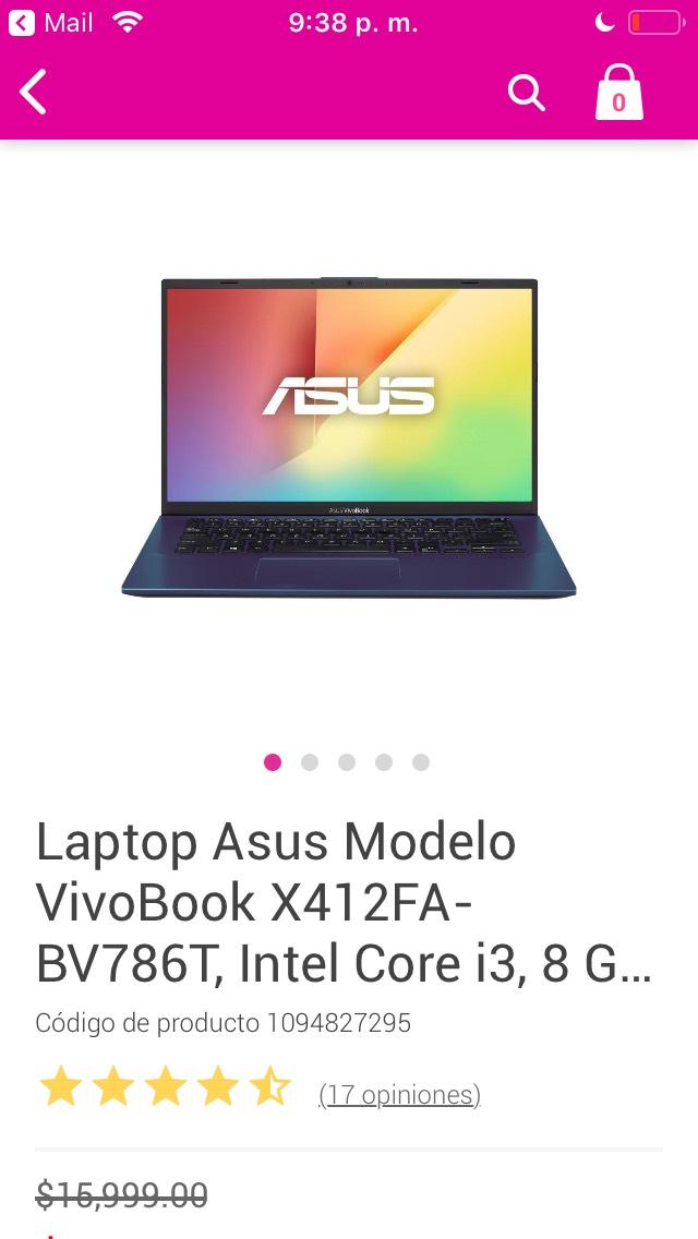 Liverpool: Laptop ASUS VivoBook X412FA-BV786T