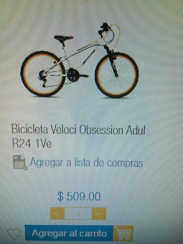 Chedraui Campeche: Bicicleta Veloci Obsession Adulto R24 1Ve a $509