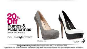 Nine West: 20% de descuento en pumps y plataformas