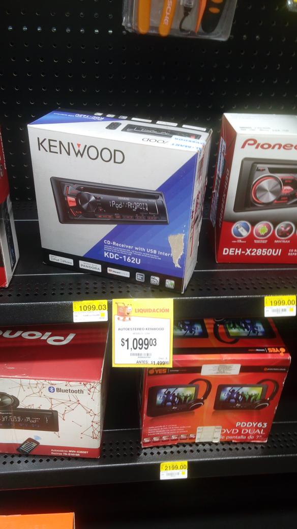 Walmart Jiutepec: líquidacion estéreo kenwood