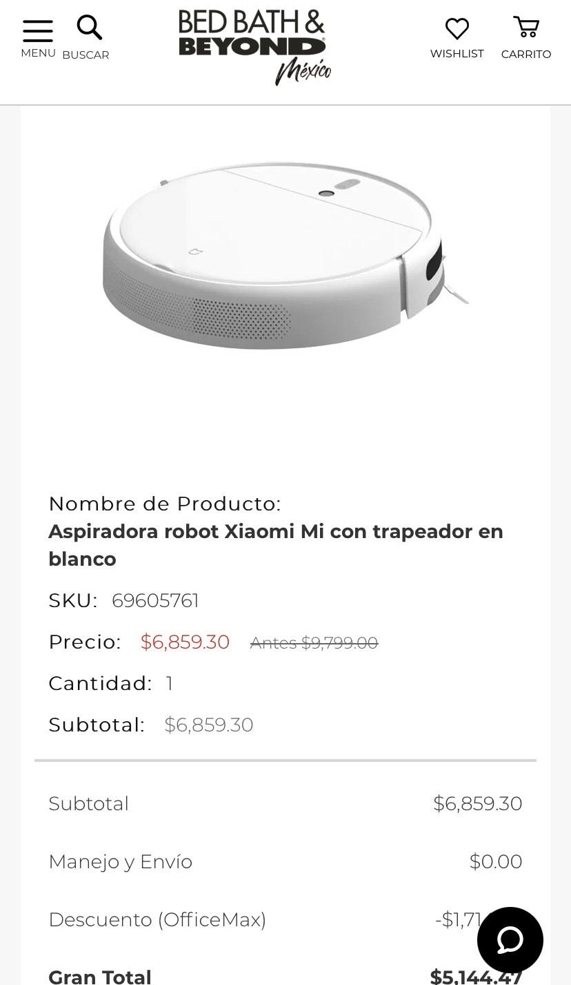 Bath&Beyond: Robot aspirador Xiaomi 1C