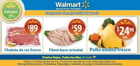 Fin de semana de Frescura en Walmart: pollo entero $24.90 y más