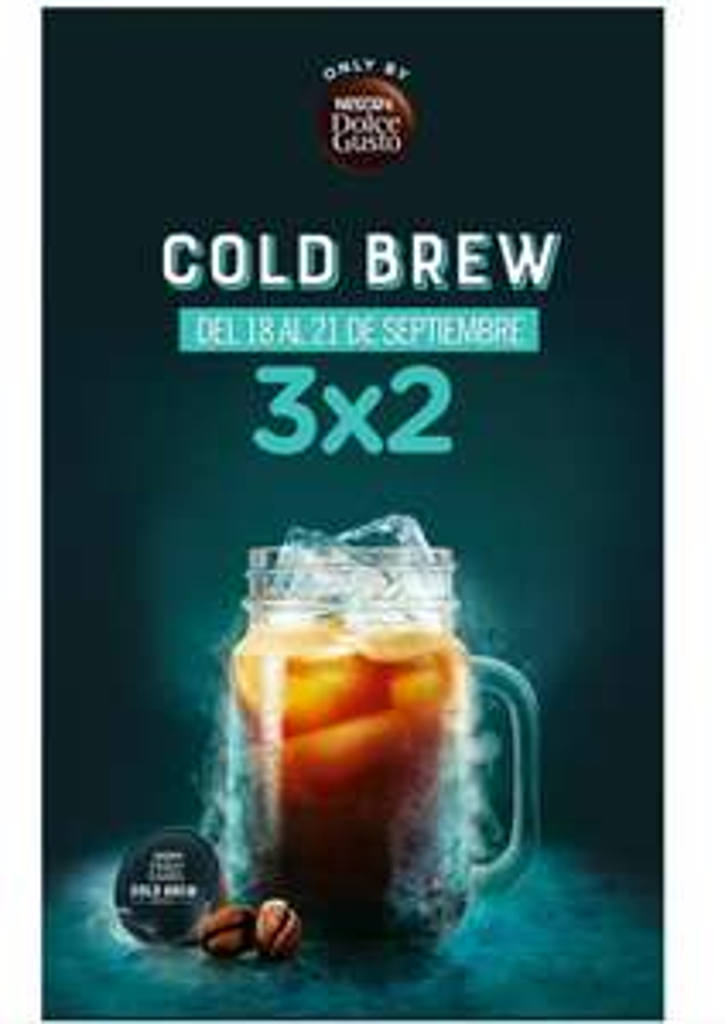 Dolce gusto 3x2 en coldbrew
