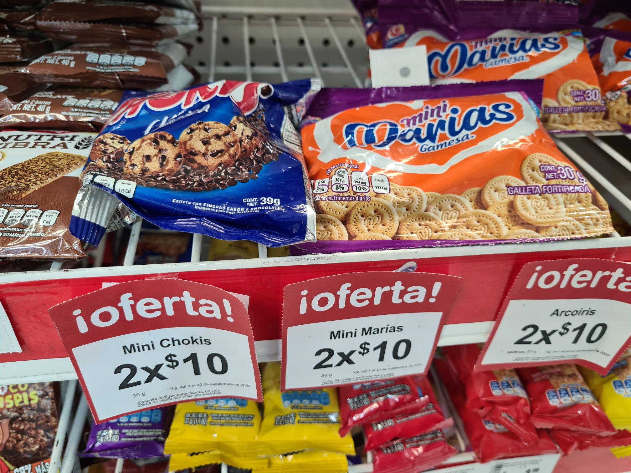 Farmacias Benavides: Mini Chokis y Mini Marias en 5 pesitos