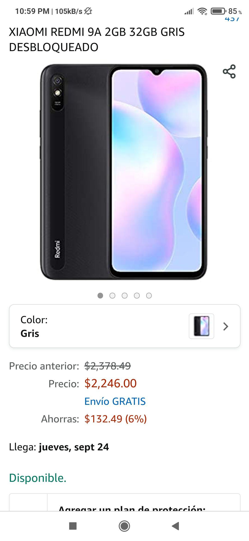 Amazon: Xiaomi Redmi 9A, Versión Global 2/32, Desbloqueado - Color Negro
