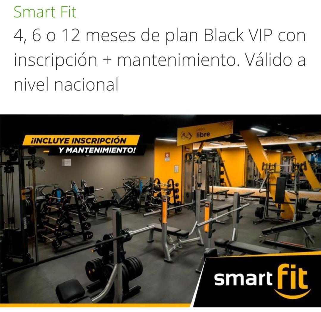 Groupon / Peixe: Smart fit 6 meses black VIP + inscripción + mantenimiento