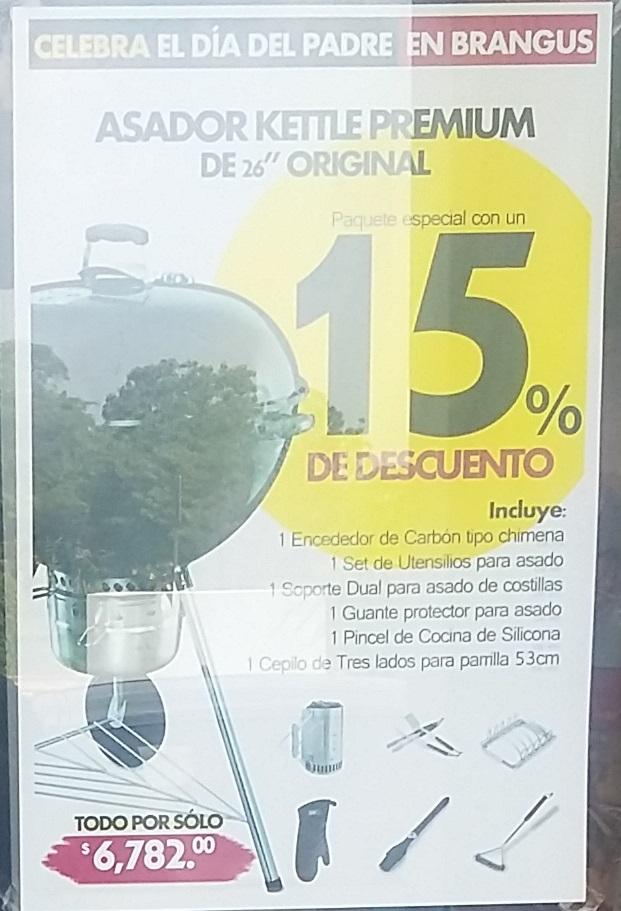 JH Brangus Villahermosa: 15% de descuento en varios asadores para Papa