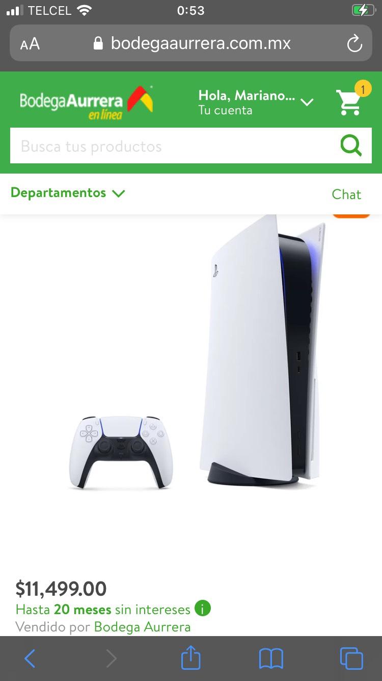 Bodega Aurrera: Consola PS5 versión digital (pagando con Citibanamex)