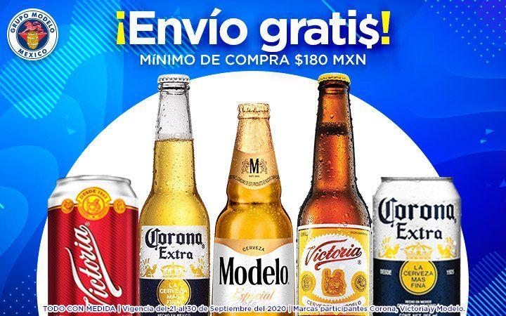 Chedraui: Envío gratis en la compra mínima de $180 en cervezas Corona, Victoria y Modelo
