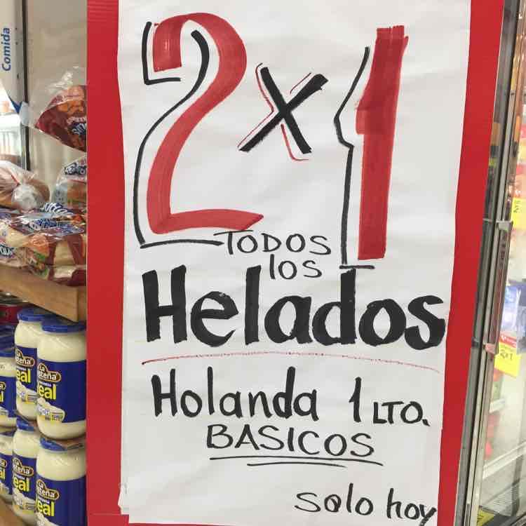 Soriana: helados Holanda de 1L al 2x1 solo hoy