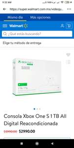 Walmart: Xbox One S reacondicionada