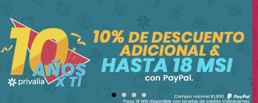 Privalia: -10% adicional pagando con PayPal