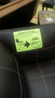 Comercial Mexicana La Selva: sofá individual a $875