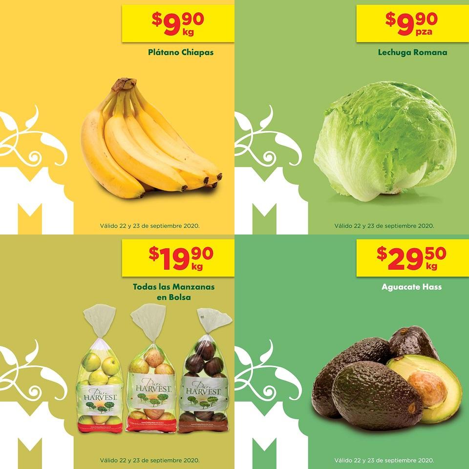 Chedraui: MartiMiércoles 22 y 23 Septiembre: Plátano $9.90 kg... Lechuga $9.90 pza... Manzanas en Bolsa $19.90 kg... Aguacate $29.50 kg.