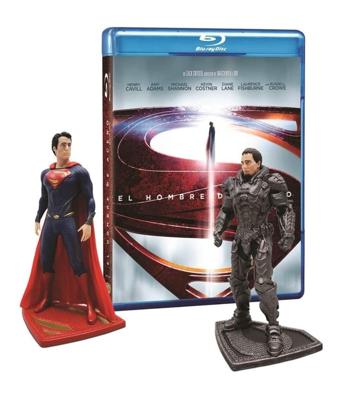 Amazon: Man Of Steel [Blu-Ray + DVD + Figuras Superman y Zod]