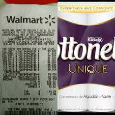 Walmart tienda física y online: Papel higiénico Cottonel Unique 32 rollos a $99